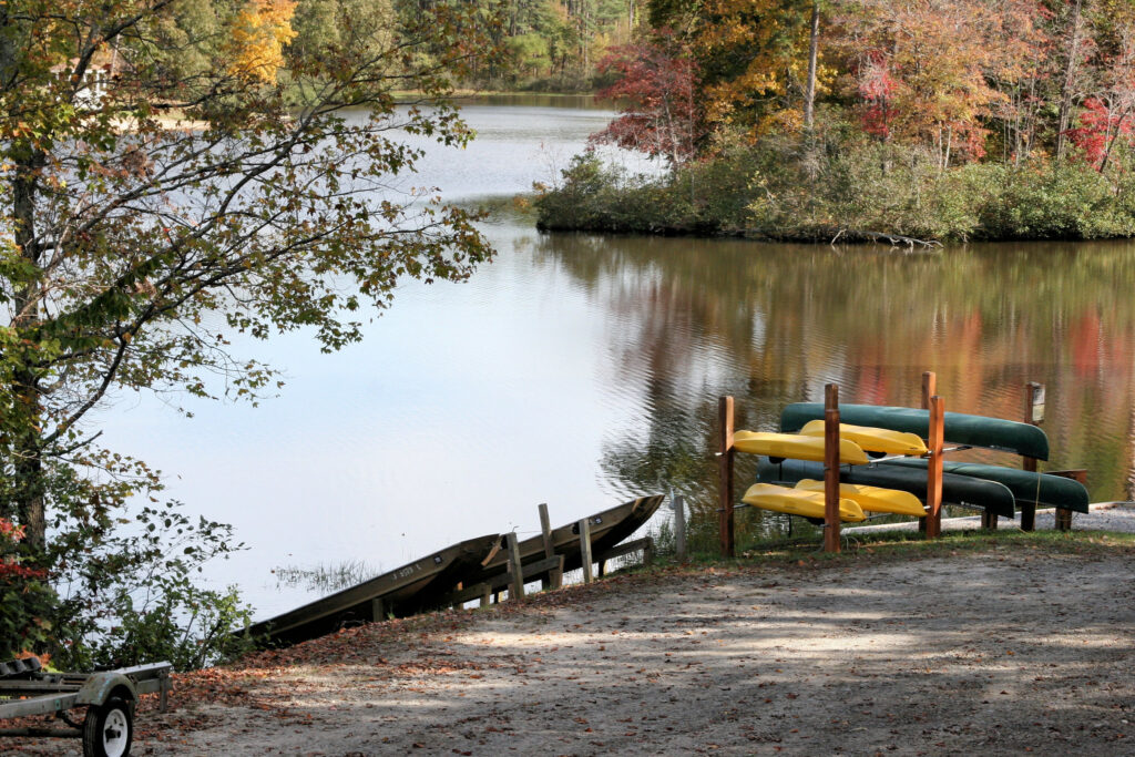 Lakeside scene at Twin Lakes State Park in Virginia