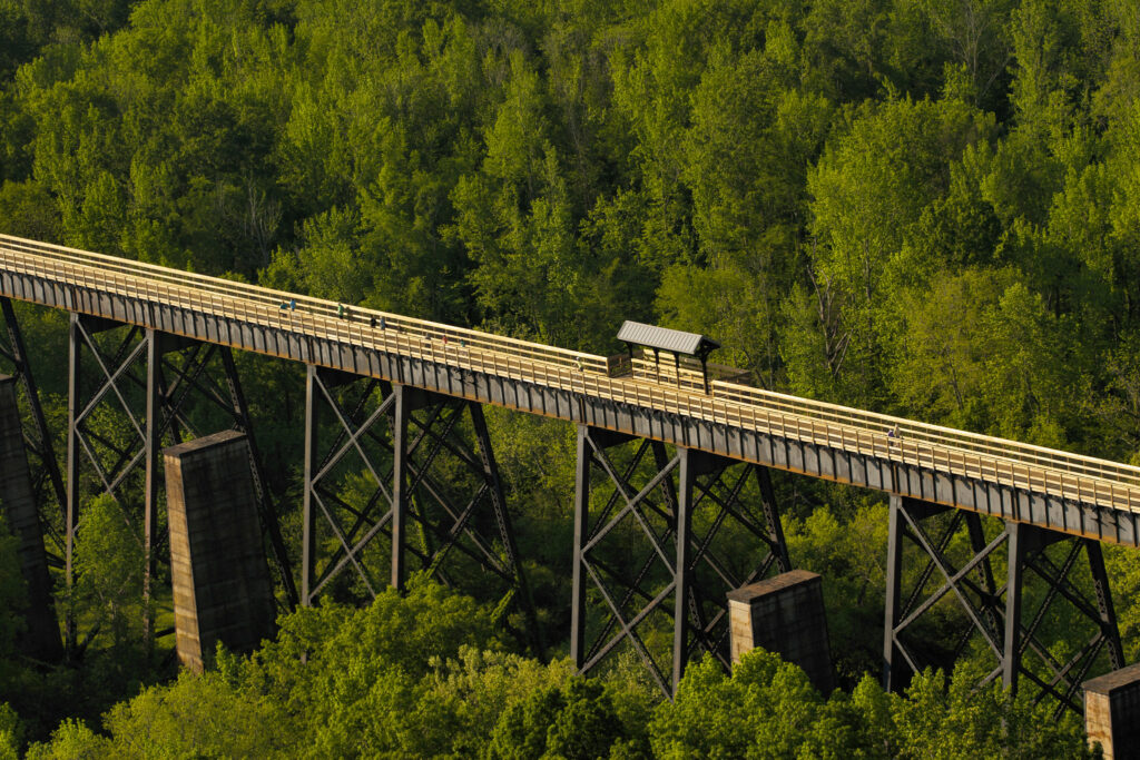 This image shows the High Bridge Trail in Virginia.